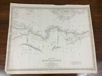 1840 Antique Map of Ancient Africa Libya Chapman Hall Victorian Old Chart