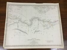 More details for 1840 antique map of ancient africa libya chapman hall victorian old chart