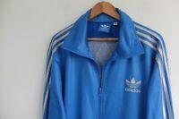 Rare Adidas Chile 62' Tracksuit jacket XL Blue Silver trefoil wetlook Originals
