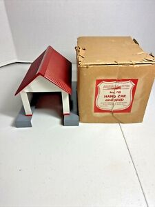 Vintage American Flyer S Scale No. 741 Hand  Car and Shed Building and Box Only