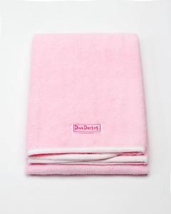 Diva Darling Easy Use & Super Absorbent Microfiber Hair Towel Pink 19 x 39-Inch