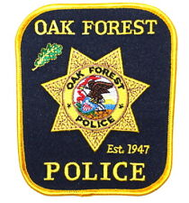 OAK FOREST ILLINOIS IL Sheriff Police Patch STATE SEAL FLYING EAGLE BANNER ~