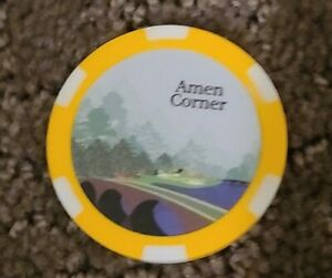 Masters Augusta Amen Corner Golf Poker Chip Ball Marker