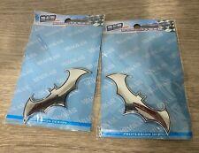 2 3d Metal Batman Dark Knight Batwing Sticker Decal Emblem Badge Car Silver
