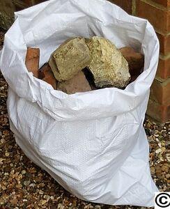 "50 Woven Polypropylene Builder Rubble Sacks Bags 22 x 30"" 50cm x 75cm"