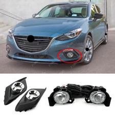 For Mazda 3 2014-2016 Halogen Front Bumper Fog lamp Kit w/ Bulb /Wiring/ Bezel