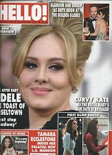 Hello magazine Adele Kate Middleton Tamara Ecclestone The Golden Globes
