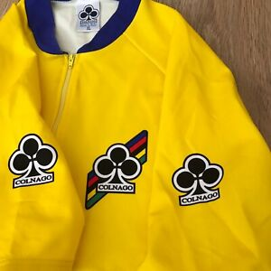 Colnago RARE vintage Yellow cycling jersey size XL