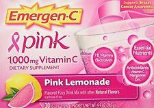 6 Pack Emergen-C Pink 1000 Mg Vitamin C Supplement Pink Lemonade 30 Packets Each