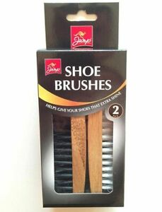 Shoe Polish Brushes Set   Pack of 2 Brushes Boot Polish For Extra Shine   Jump.
