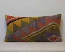 12''x24'' lumbar cushion interior decor lumbar pillow cover kilim pillow cover