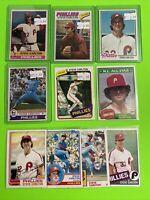🔥1976-85🔥HOF PHILADELPHIA PHILLIES STEVE CARLTON - Topps Baseball Card LOT X10