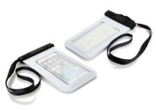 "Waterproof Underwater Cover Case Bag Dry Pouch for iPhone 4 5 6 7 Samsung 5.2"" White"