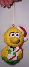 Sesame Street Big Bird wearing Santa Hat holding Presents Christmas Ornament