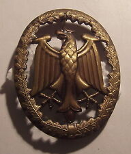 German Armed Forces Badge for Military Proficiency Bronze Tone Grade I & Pin