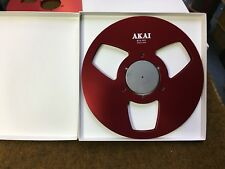 "New! RED Akai NAB 10.5"" inch Metal Reel for 1/4"" tape"
