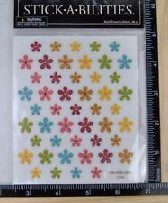 STICKABILITIES MULTI FLOWERS VELLUM Paper Studio 2 Sticker Strips