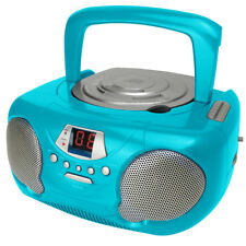 Groov-e Boombox Portable CD Audio Player with AM/FM Radio Teal