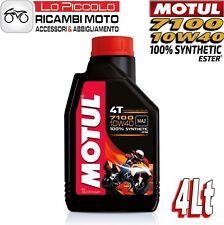 4 LITRI LT OLIO MOTORE MOTO MOTUL 7100 4T 10W40 100% SINTETICO ESTER MA2 RACING