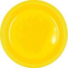 Amscan 20 grandes assiettes en Plastique Jaune 23cm