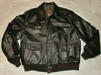 VTG 1980s EXCELLED LEATHER A-2 FLIGHT JACKET! WWII ARMY AIR FORCE! USA! 2XL TALL