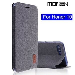 Huawei Honor 10 Case Honor10 Flip Cover Fabric Full Protective Silicone Fundas