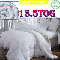 LUXURY DUCK FEATHER & DOWN DUVET QUILT SOFT COMFORTABLE WARM WINTER 13.5 TOG