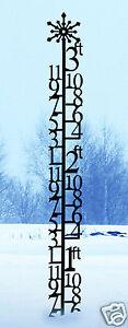 Wrought Iron 3 Foot Snowflake Snow Gauge