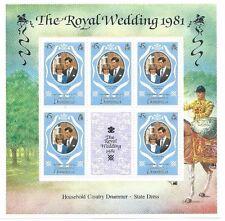 Dominica - Royal Wedding 1981 - 3 Souvenir Sheets MNH