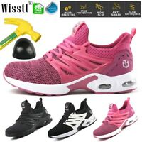 Mens Safety Shoes Boots Steel Toe Cushioned Trainers Work Hiking Shoes Sneakers