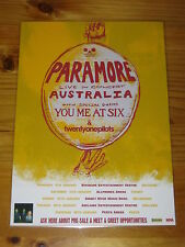 PARAMORE - 2013 Australia Tour  You Me At Six - Twentyonepilots Laminated Poster