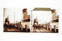 Calais Il Port Placca Da Lente Stereo 6x13cm Vintage Ca 1920