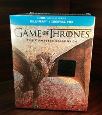 Game of Thrones:The Complete Seasons 1-6 (Blu-ray Disc+HD Digital)NEW-Free S&H