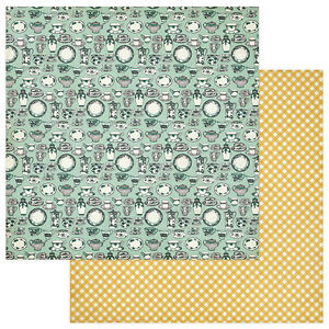 2 Sheets of Photo Play FRESH PICKED 12x12 Scrapbook Paper - From Our Kitchen