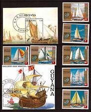 GUYANA & GUINEE EQUATORIALE  navires anciens à voiles et voiliers C161