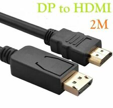 2m DisplayPort DP Display Port to HDMI Male Plug Display/Monitor/TV Cable Lead