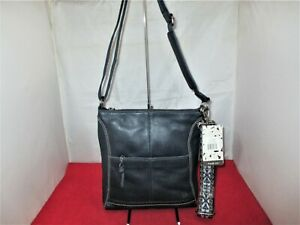 The Sak Lucia Leather Crossbody, Messenger, Shoulder Bag $139 Indigo