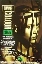 """Living Color """"Stain-Released 22nd Feb. 5062cm UK Promo Poster-Iron Máscara On"""