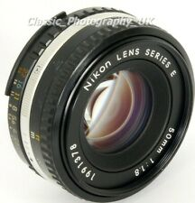 NIKON Lens Series E 50mm 1:1.8 Nikon Ai-S Sharp PANCAKE Lens FILM & Digital SLR