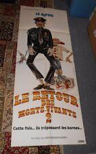 original RETURN OF THE LIVING DEAD PART II FRENCH 61x23 DOOR PANEL POSTER cop