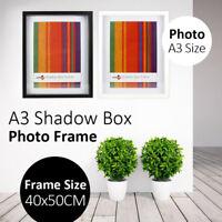 A3 Shadow Box Photo Frame Black White Wall Hanging Photo Holder Home Decor