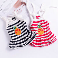 Summer Small Dog Dress Cotton Tiered Skirt Pet Cat Clothes Puppy Apparel Yorkie