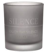 Zuhause Lichtglas SILENCE Glas matt dunkelgrau Teelichglas räder Design