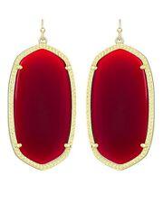 Kendra Scott Danielle Earrings in Dark Brown Red & Gold Plated