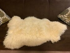 Sheepskin Rug or Blanket white genuine from Poland brand new excellent condition