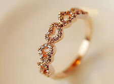 Conjunto anillo de oro rosa señoras de corte de la esmeralda CZ 1690 de Compromiso Boda Acero 4ct 2 un.