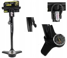 Dunlop Bicycle Floor Pump with Pressure Gauge Inc. Adapters for Different Valves