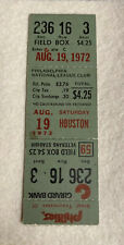 1972 PHILADELPHIA PHILLIES vs. HUSTON ASTROS Baseball Ticket  August 19, 1972