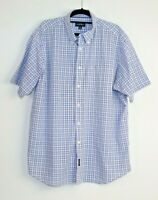 Gazman Men's Button Down Short Sleeve Checked Shirt Size XL