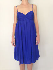 Royal Blue Silk Cocktail Dress - size 10